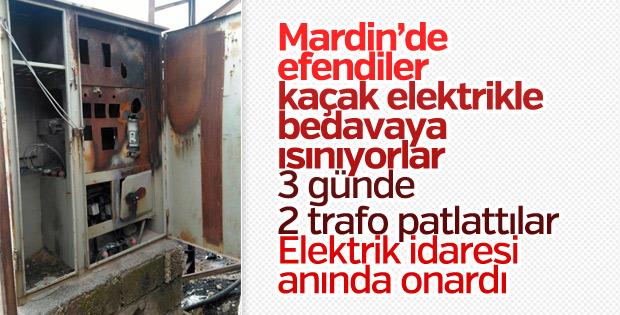 Mardin'de aşırı yüklenmeden 2 günde 3 trafo yandı