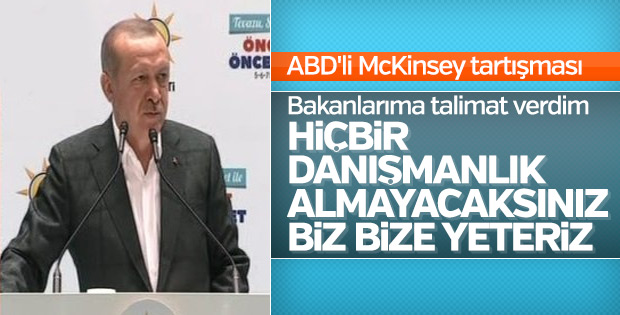 Başkan Erdoğan, McKinsey tartışmalarını noktaladı