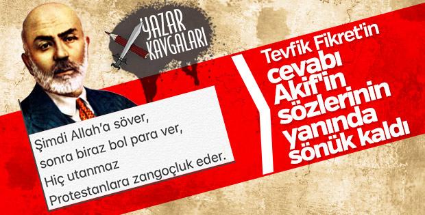 Tevfik Fikret ve milli şair Mehmet Akif Ersoy'un münakaşaları