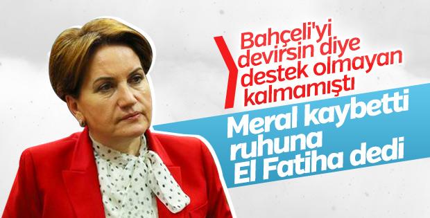 Akşener mahkeme kararı sonrası adalet öldü dedi