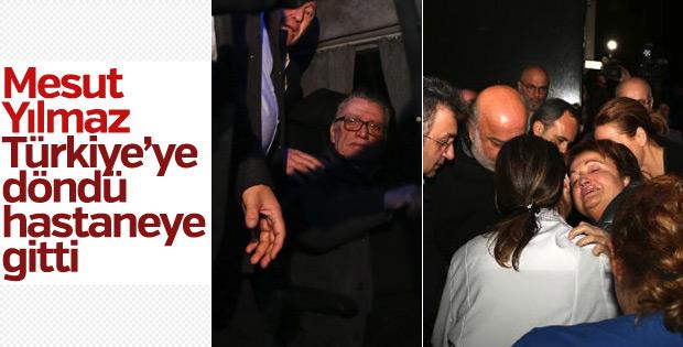 Mesut Yılmaz Türkiye'ye döndü