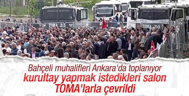 Ankara'da 'Bahçeli istifa' sloganları