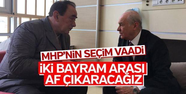 MHP'nin seçim beyannamesinde de af var