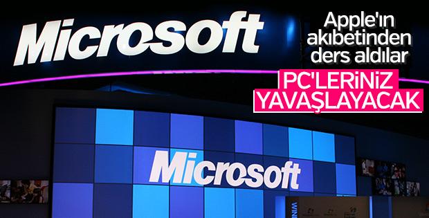 Microsoft da eski bilgisayarları yavaşlatacak