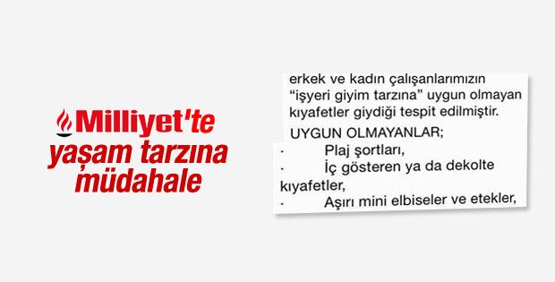 Milliyet gazetesinde kadın çalışanlara dekolte yasağı