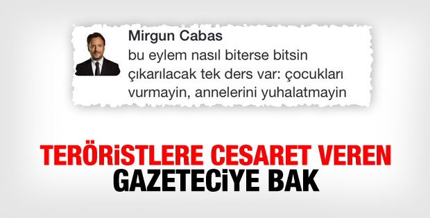 Mirgün Cabas'tan skandal tweet