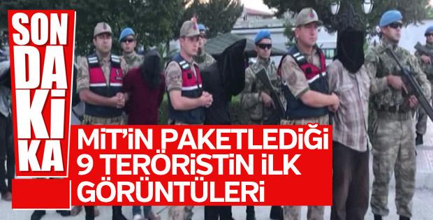 MİT'in yakaladığı 9 YPG'linin ilk görüntüleri
