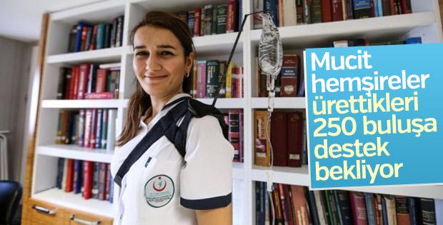 Mucit hemşirelerden 250 tıbbi buluş