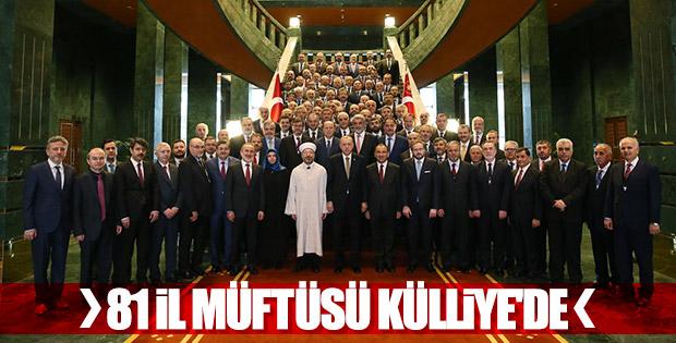 Cumhurbaşkanı Erdoğan müftülerle buluştu