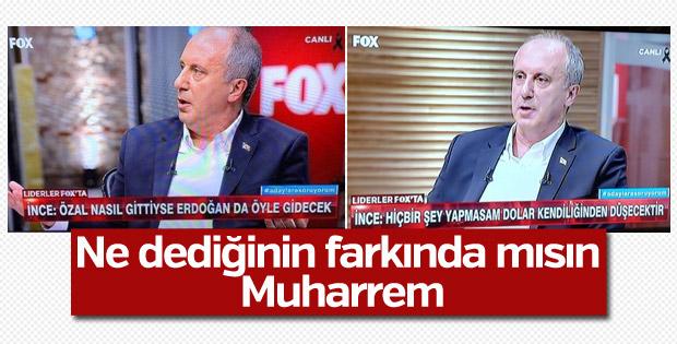 Muharrem İnce: Özal nasıl gittiyse Erdoğan da öyle gidecek