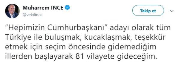 Muharrem İnce, Türkiye turuna çıkıyor