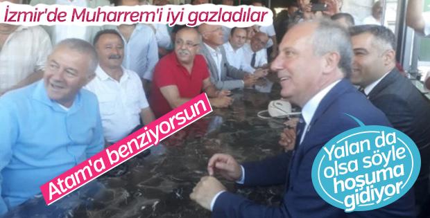İzmir'de Muharrem İnce'yi Atatürk'e benzettiler