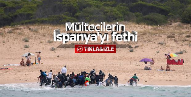 İspanya plajlarına ulaşan göçmenler