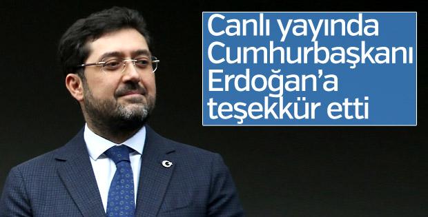 Murat Hazinedar Cumhurbaşkanı Erdoğan'a teşekkür etti
