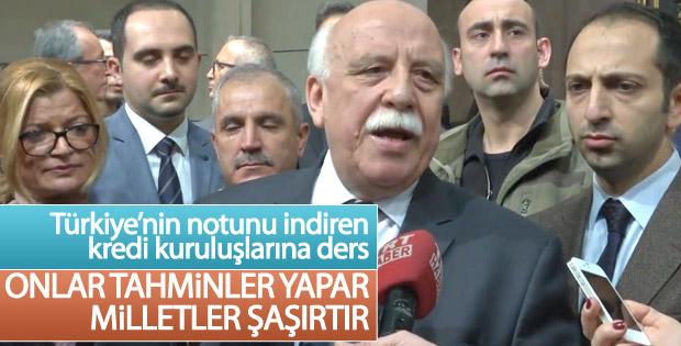 Kültür ve Turizm Bakanı'na düşürülen kredi notu soruldu