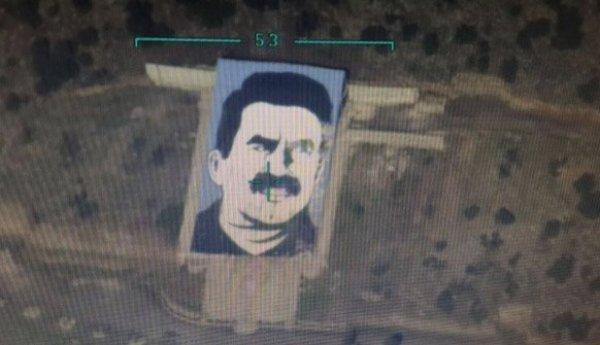 Teröristbaşı Öcalan'ın anıtının bombalandığı anlar