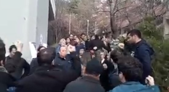 ODTÜ'de PKK karşıtı sloganlar