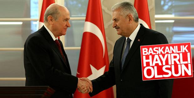 Başbakan Yıldırım ve Bahçeli'den ortak açıklama