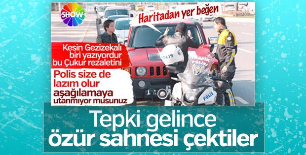 Çukur dizisi trafik polisinden özür diledi