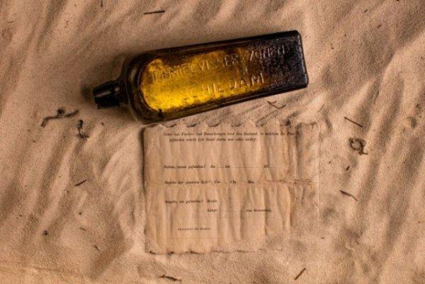 132 yıllık şişe mesajı sahile vurdu