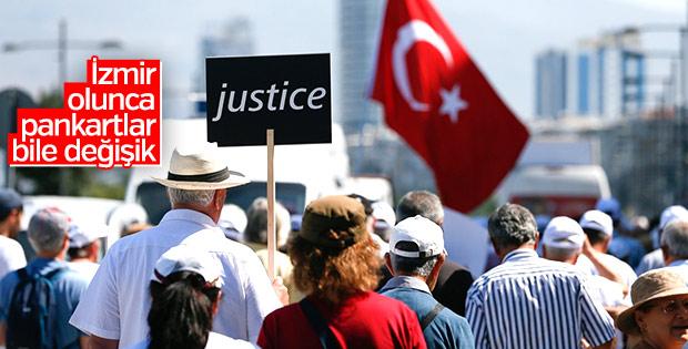 CHP İzmir'den Kılıçdaroğlu'na destek yürüyüşü