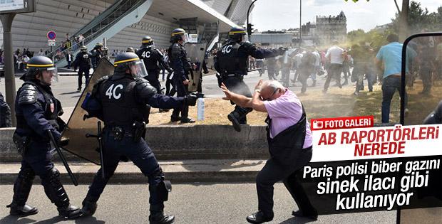 Taksici isyanı Paris'i kilitledi
