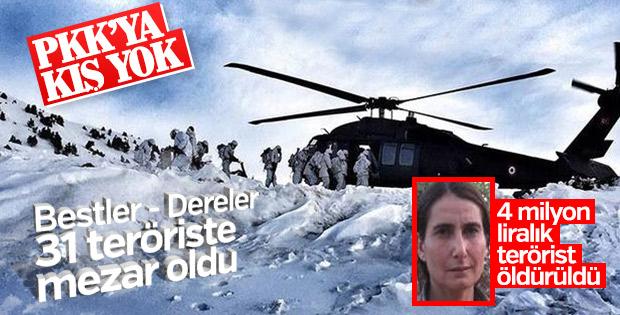 Bestler-Dereler'de 31 PKK'lı öldürüldü