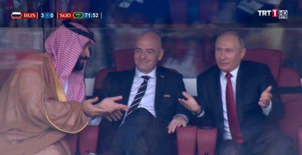 Putin'le Selman'ın Rusya'nın gollerine tepkisi