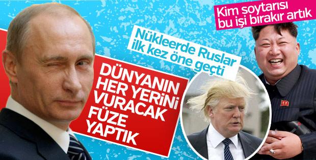 Putin her yeri vurabilecekleri füze yaptıklarını açıkladı