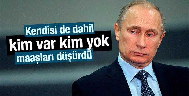 Putin maaşlarda yüzde 10 kesintiye gitti