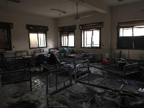 Teröristlerin vurduğu hastanedeki siviller Türkiye'de