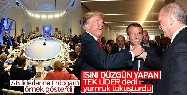 Trump NATO'ya Başkan Erdoğan'ı örnek gösterdi
