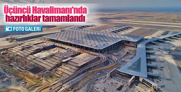 Üçüncü Havalimanı'ndaki çalışmalar havadan görüntülendi