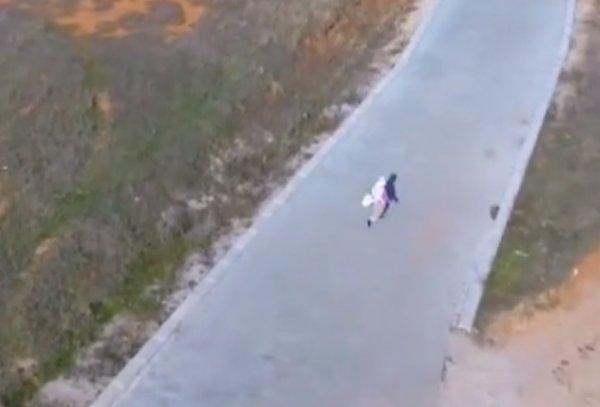 İlk defa drone gören masum teyze