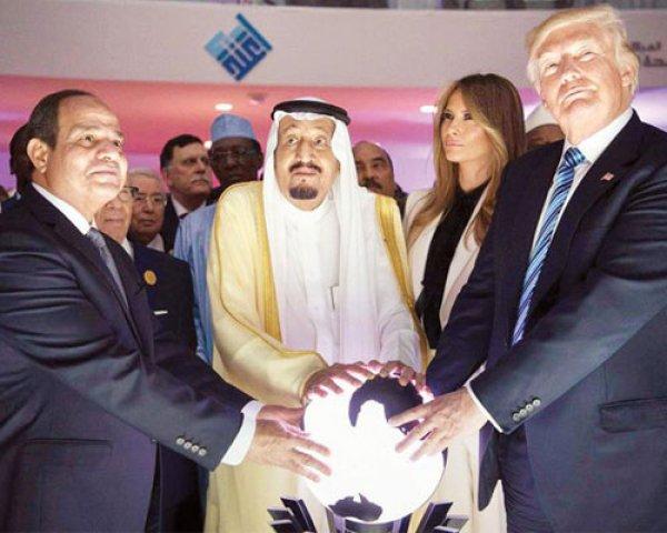 Netanyahu ile Macron küre ile poz verdi