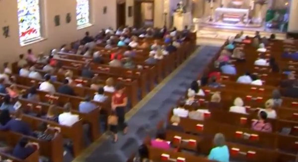Washington'da kilisede çocuk istismarı protestosu