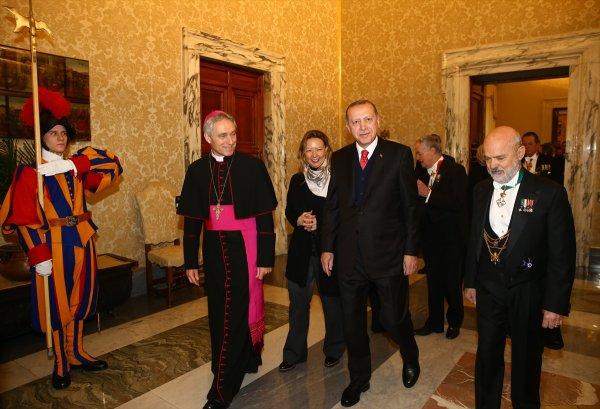 Cumhurbaşkanı Erdoğan'ın, Vatikan ziyareti