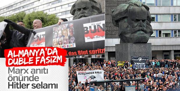 Almanya'daki eylemlerde Nazi selamı
