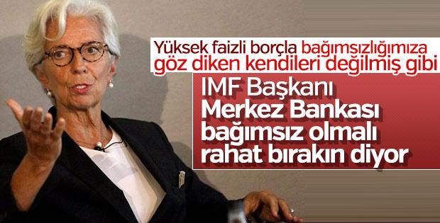 IMF Başkanı'ndan Merkez Bankası çağrısı