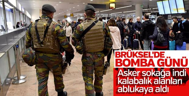 Brüksel saldırılarının yıl dönümünde asker sokakta