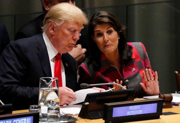 Trump BM toplantısına geç kaldı