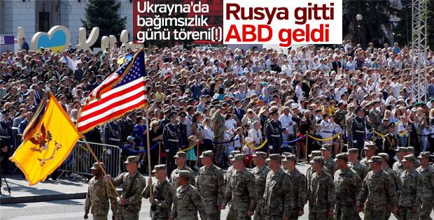 Ukrayna Bağımsızlık Günü kutlamalarında ABD bayrakları