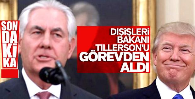 Trump Dışişleri Bakanı Tillerson'u görevden aldı