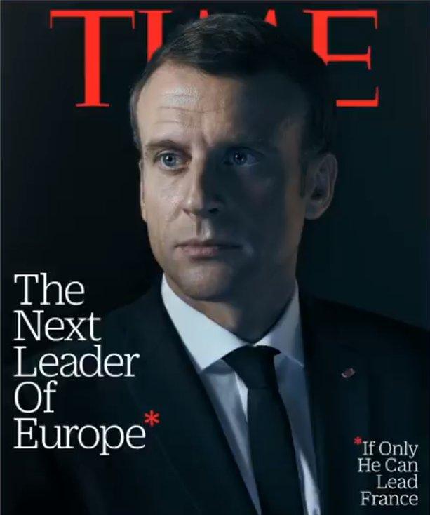 Time Macron'un liderliği ile dalga geçti