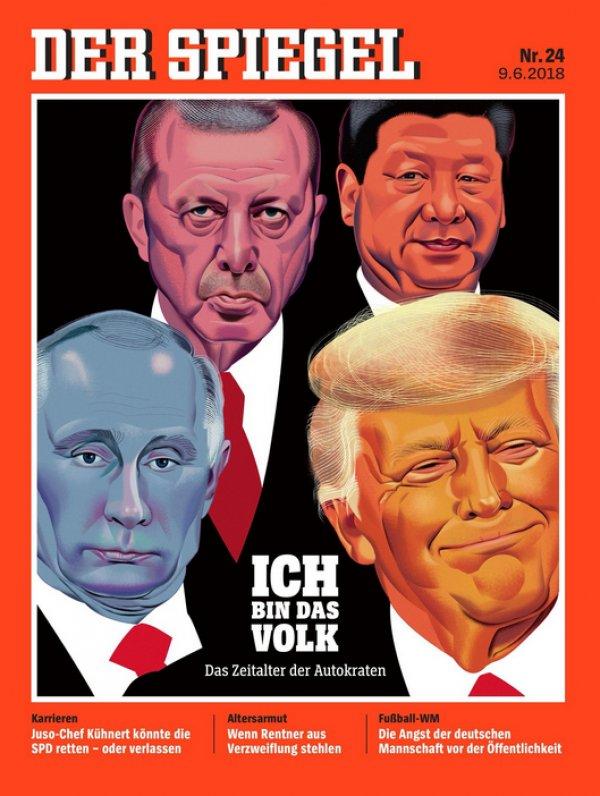 Alman Spiegel'in kapağında Erdoğan