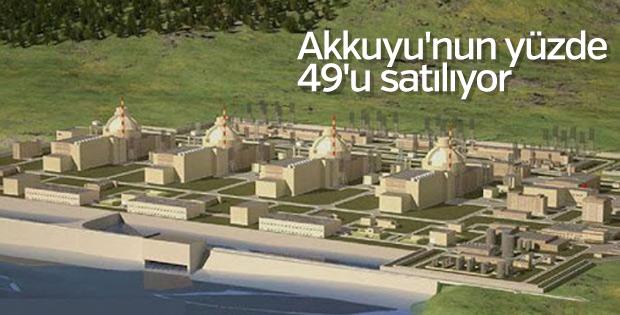 Akkuyu'nun yüzde 49'u satılıyor