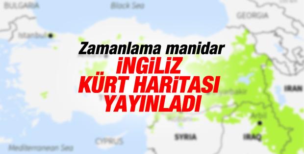 Reuters'ın abonelerine geçtiği Kürt nüfusu haritası
