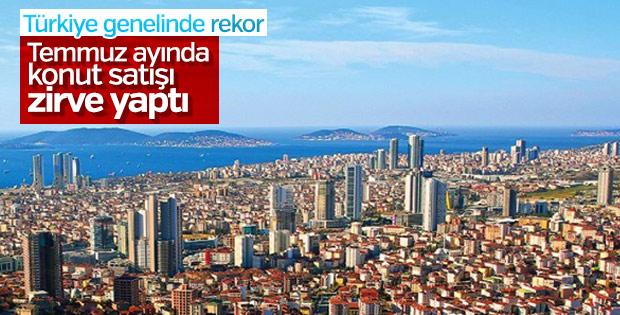 Türkiye'de temmuz ayında 123 binden fazla konut satıldı