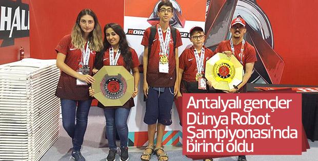 Antalya robot takımı dünya şampiyonu