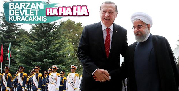 Cumhurbaşkanı Erdoğan ile Ruhani'nin samimi pozları